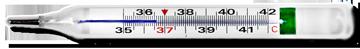 Термометр безртутный максимальный стеклянный