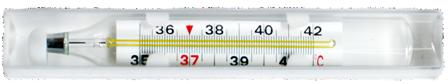 Термометр ртутный в футляре для легкого считывания Лупа